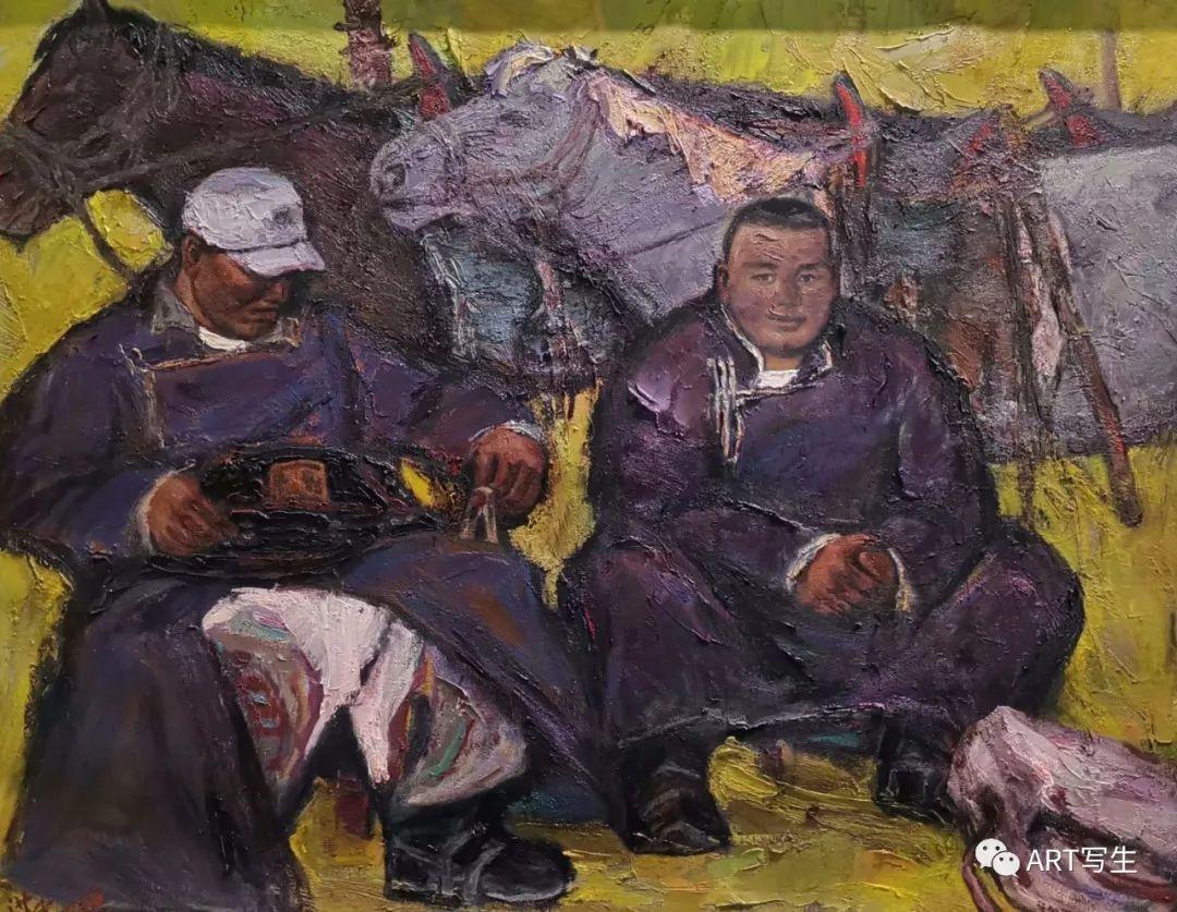 第十三届内蒙古自治区美术作品展览(油画作品) 第111张