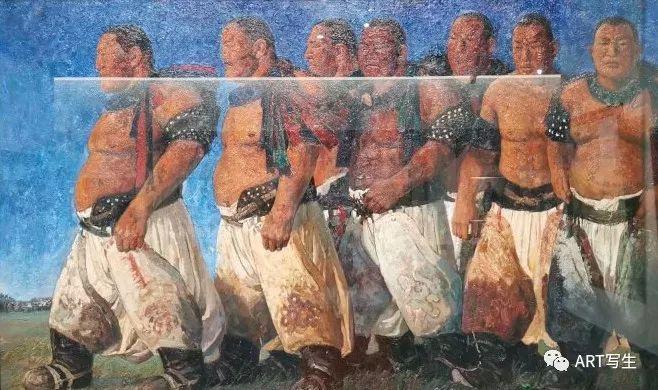 第十三届内蒙古自治区美术作品展览(油画作品) 第128张