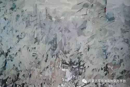 《敖乡的守望者》内蒙古草原油画院画家曾凡江油画作品选 第2张