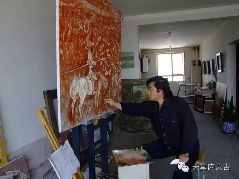 🔴内蒙古油画家--周宇油画作品 第1张