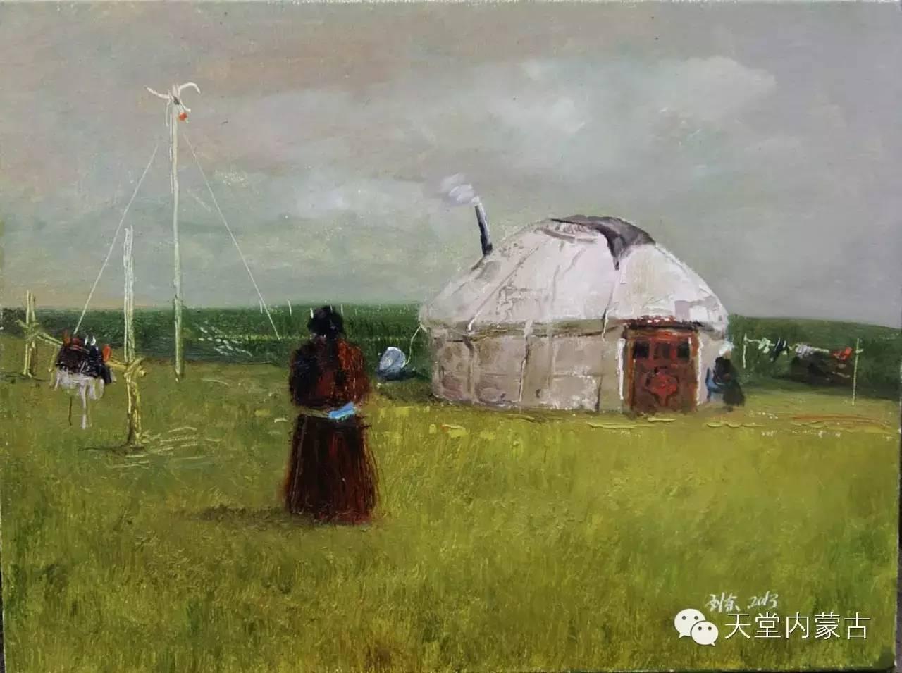 🔴内蒙古画家刘东油画作品 第15张 🔴内蒙古画家刘东油画作品 蒙古画廊