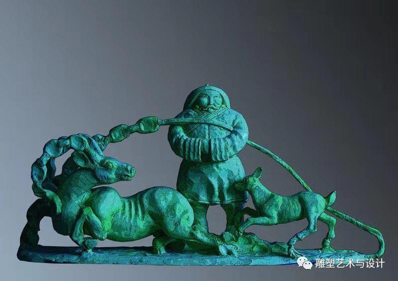 内蒙古建筑职业技术学院雕塑专业教师岳布仁作品 第26张