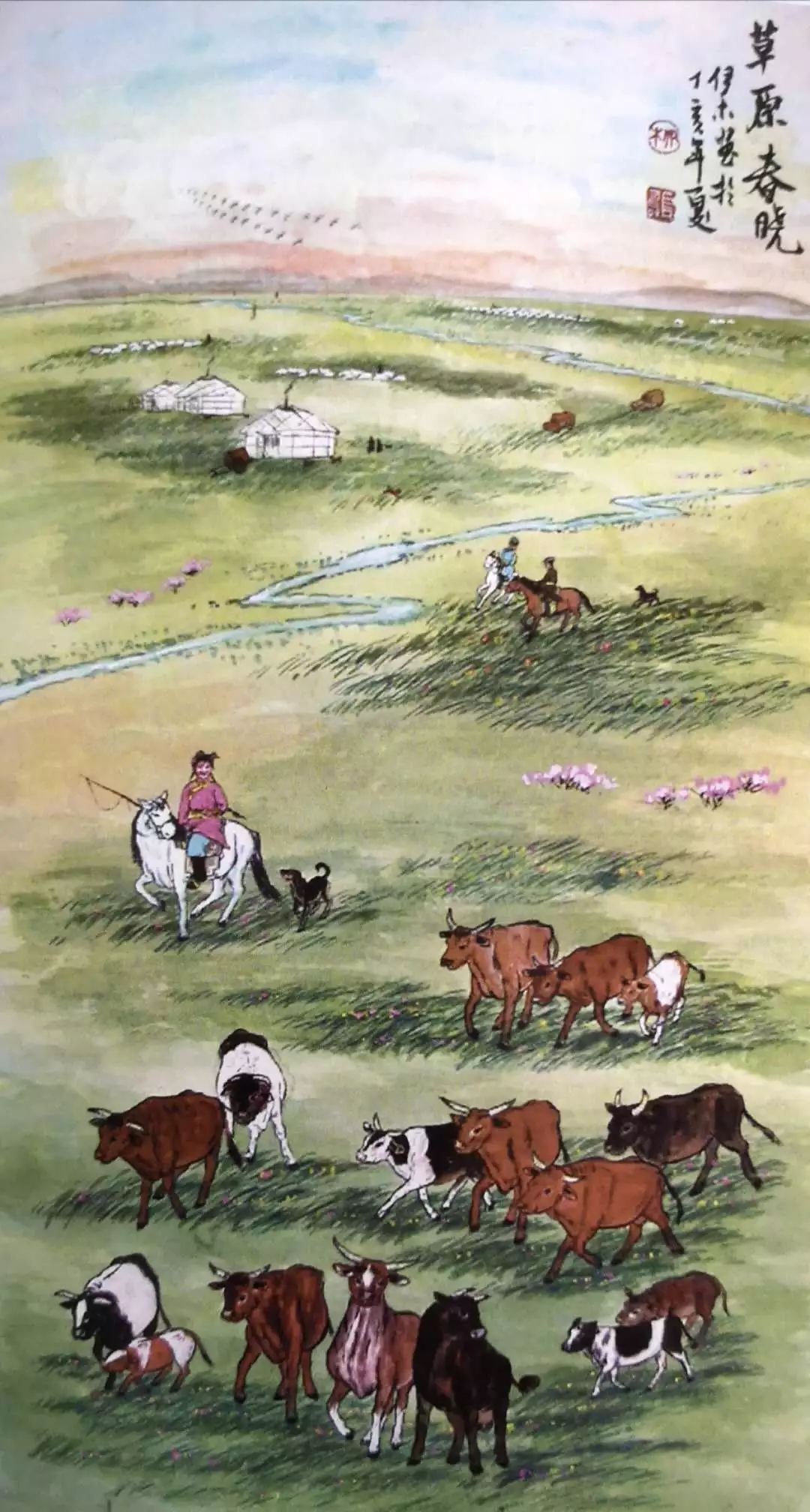 蒙古族画家|伊木舍楞 第10张 蒙古族画家|伊木舍楞 蒙古画廊