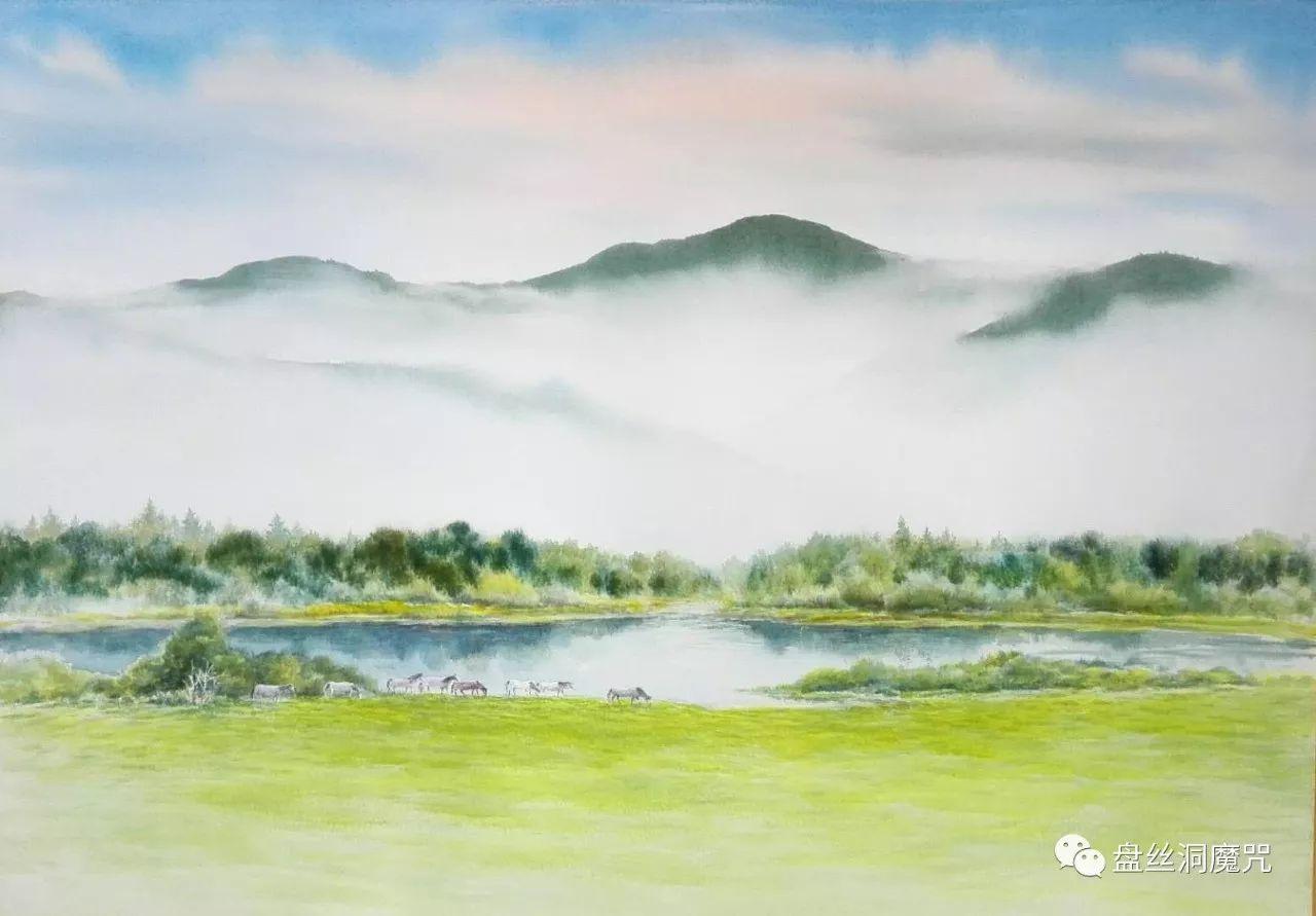 马志有水彩作品欣赏 第6张