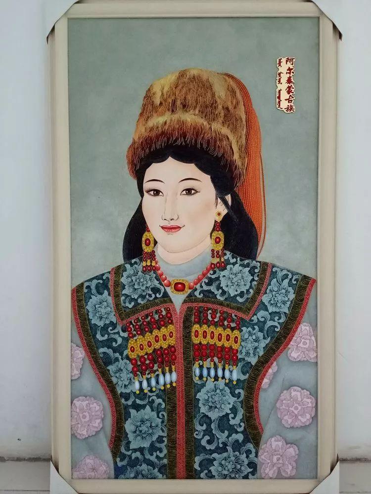 请您欣赏金丝彩岩手工艺作品——蒙古族部落妇女系列 第4张