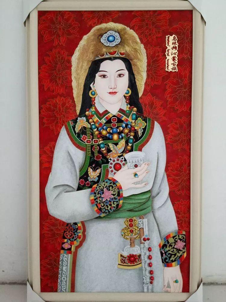 请您欣赏金丝彩岩手工艺作品——蒙古族部落妇女系列 第8张