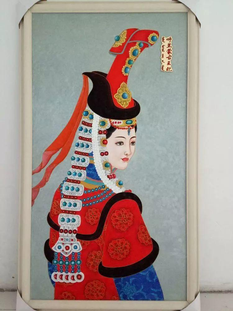 请您欣赏金丝彩岩手工艺作品——蒙古族部落妇女系列 第11张