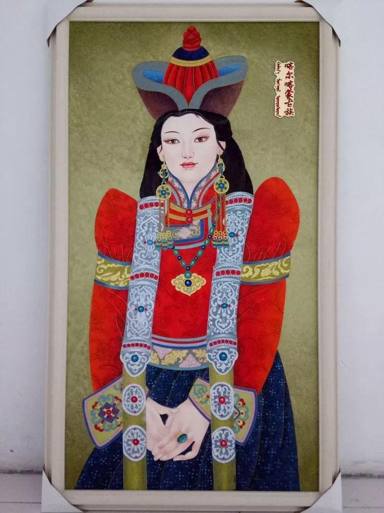 请您欣赏金丝彩岩手工艺作品——蒙古族部落妇女系列 第10张