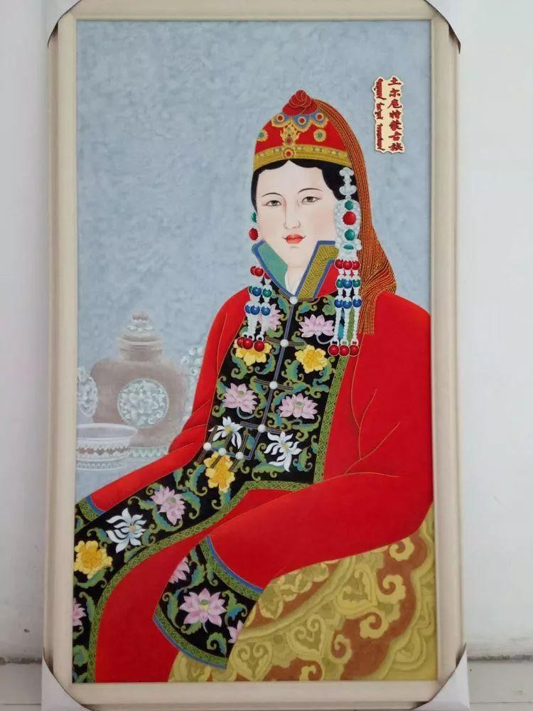 请您欣赏金丝彩岩手工艺作品——蒙古族部落妇女系列 第15张