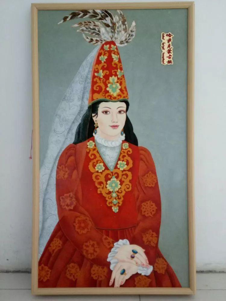 请您欣赏金丝彩岩手工艺作品——蒙古族部落妇女系列 第20张