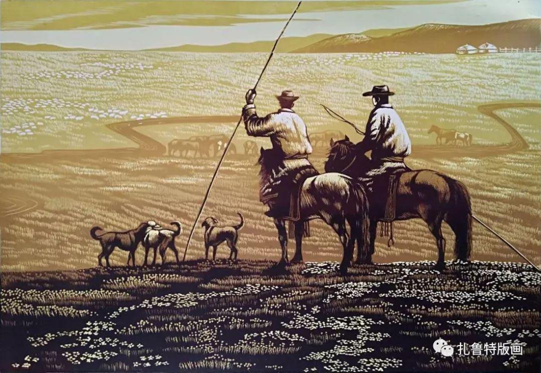 牧民版画家--照那木拉 第3张