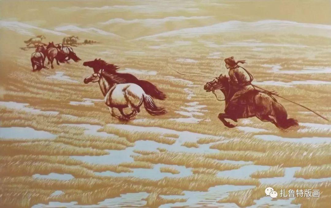 牧民版画家--照那木拉 第4张