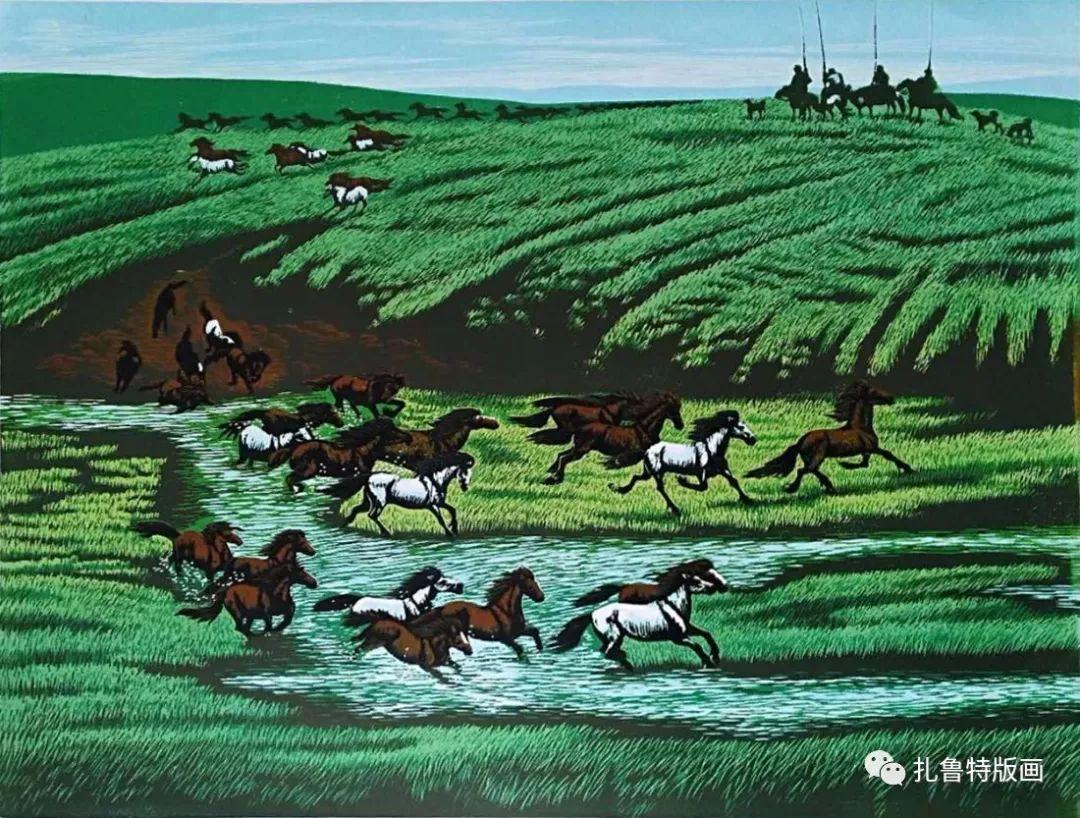 牧民版画家--照那木拉 第5张