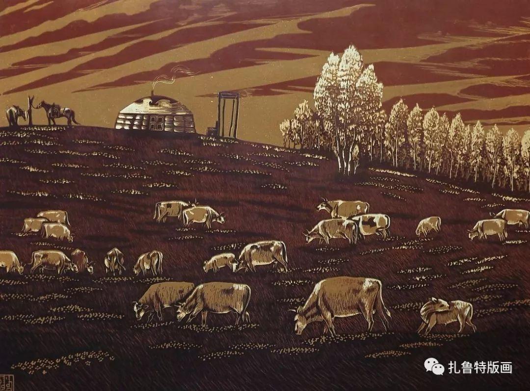 牧民版画家--照那木拉 第10张
