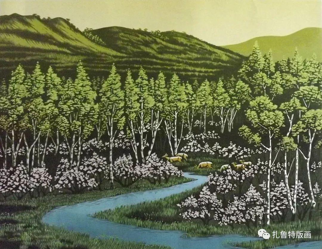 牧民版画家--照那木拉 第9张
