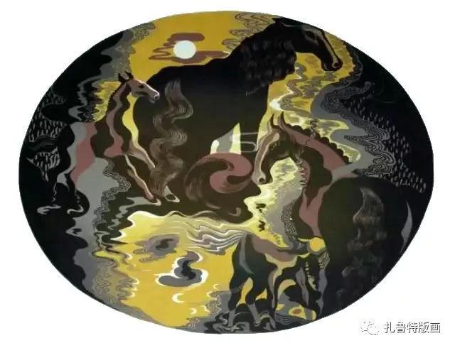 大草原的版画梦想—山丹版画作品 第14张