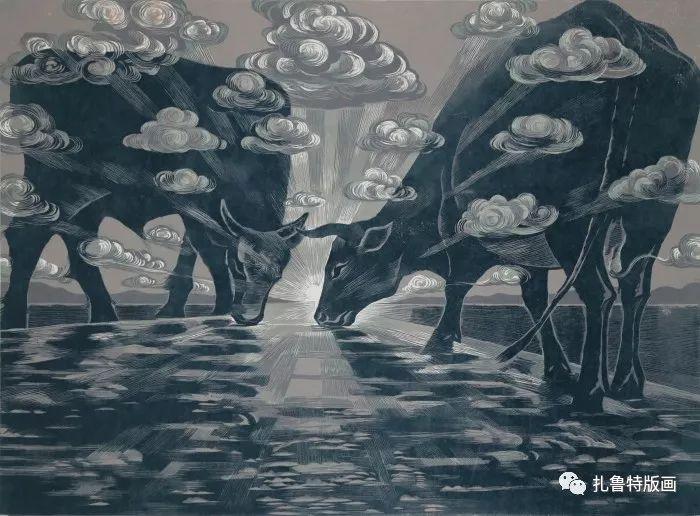 大草原的版画梦想—山丹版画作品 第15张