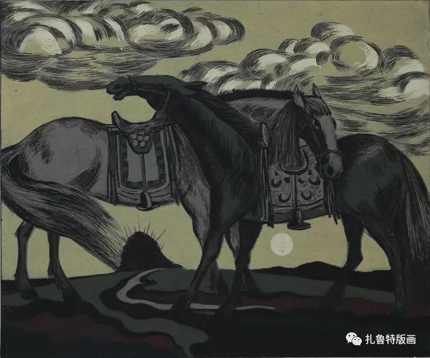 大草原的版画梦想—山丹版画作品 第16张