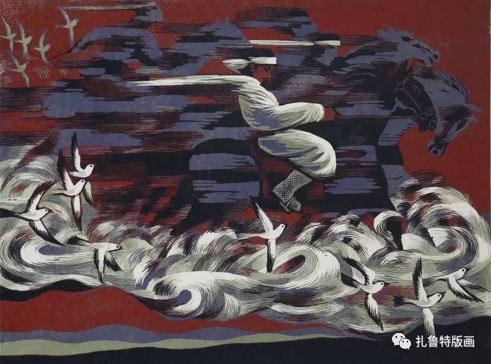 大草原的版画梦想—山丹版画作品 第27张