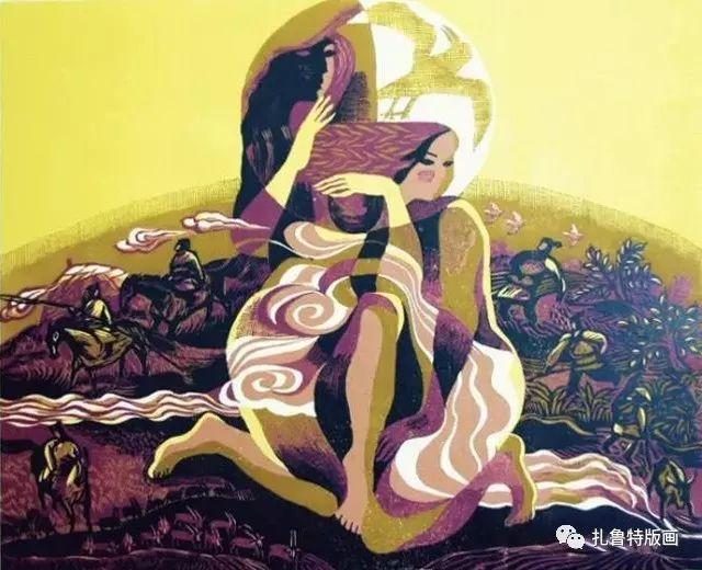 大草原的版画梦想—山丹版画作品 第28张
