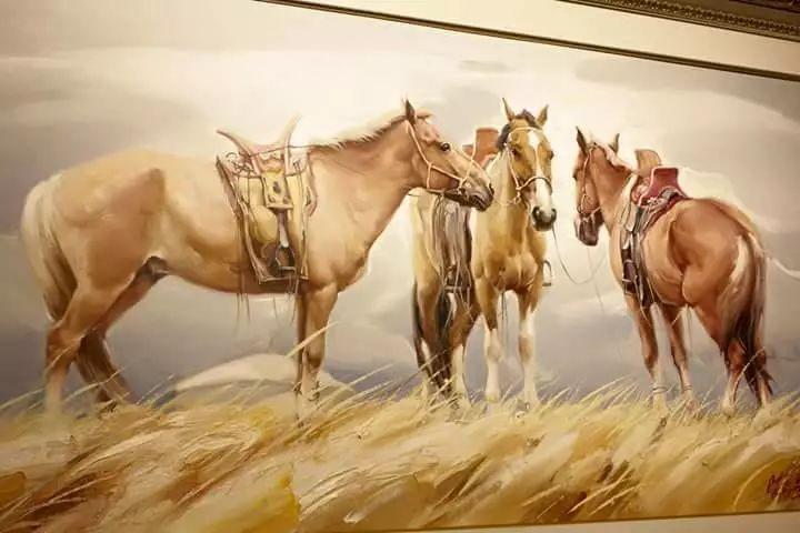 画家道尔吉德日木画笔下的蒙古马,简直栩栩如生 第8张