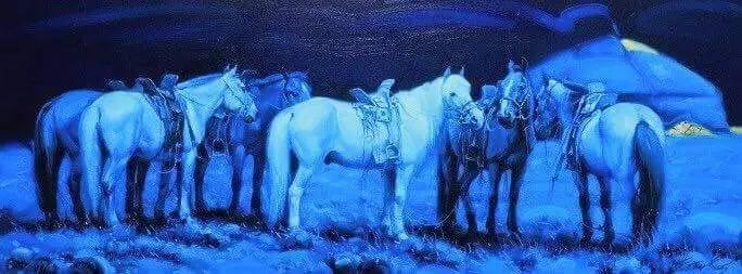 画家道尔吉德日木画笔下的蒙古马,简直栩栩如生 第17张