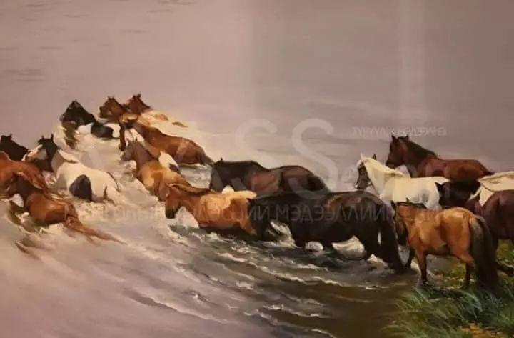 画家道尔吉德日木画笔下的蒙古马,简直栩栩如生 第19张
