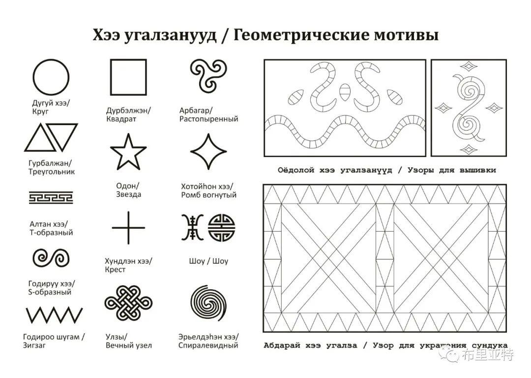布里亚特蒙古族传统花纹艺术