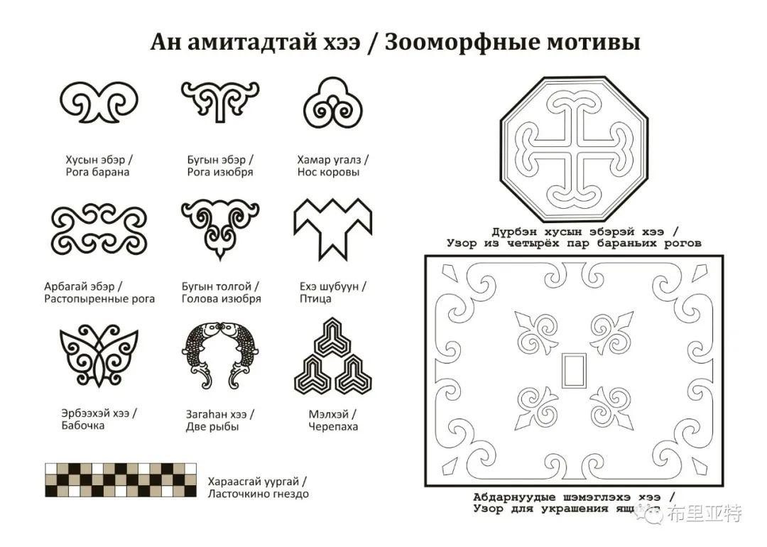 布里亚特蒙古族传统花纹艺术 第9张 布里亚特蒙古族传统花纹艺术 蒙古图案