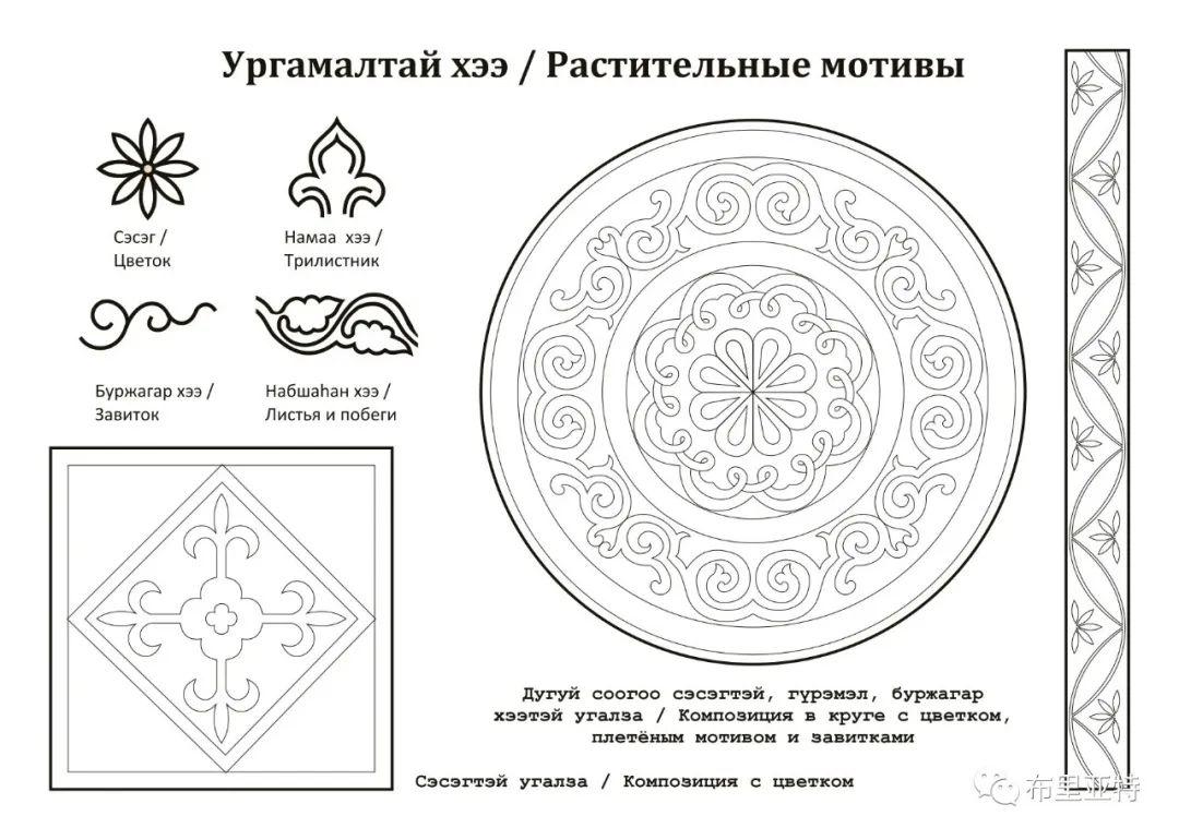 布里亚特蒙古族传统花纹艺术 第14张 布里亚特蒙古族传统花纹艺术 蒙古图案