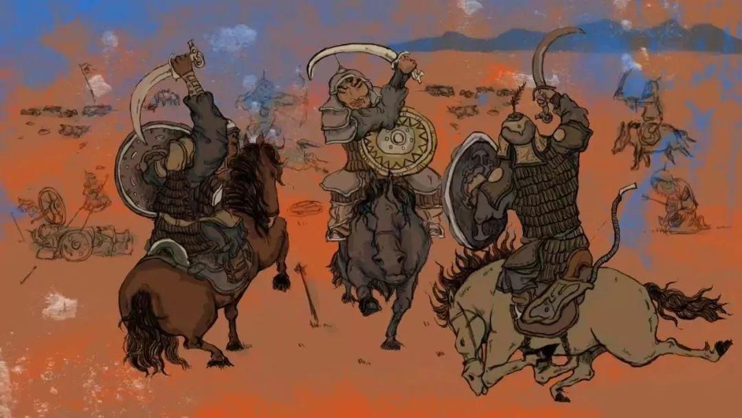 蒙古插画 第2张 蒙古插画 蒙古画廊