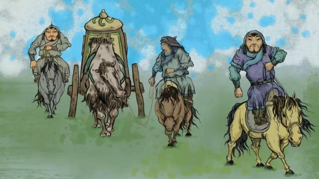 蒙古插画 第5张 蒙古插画 蒙古画廊