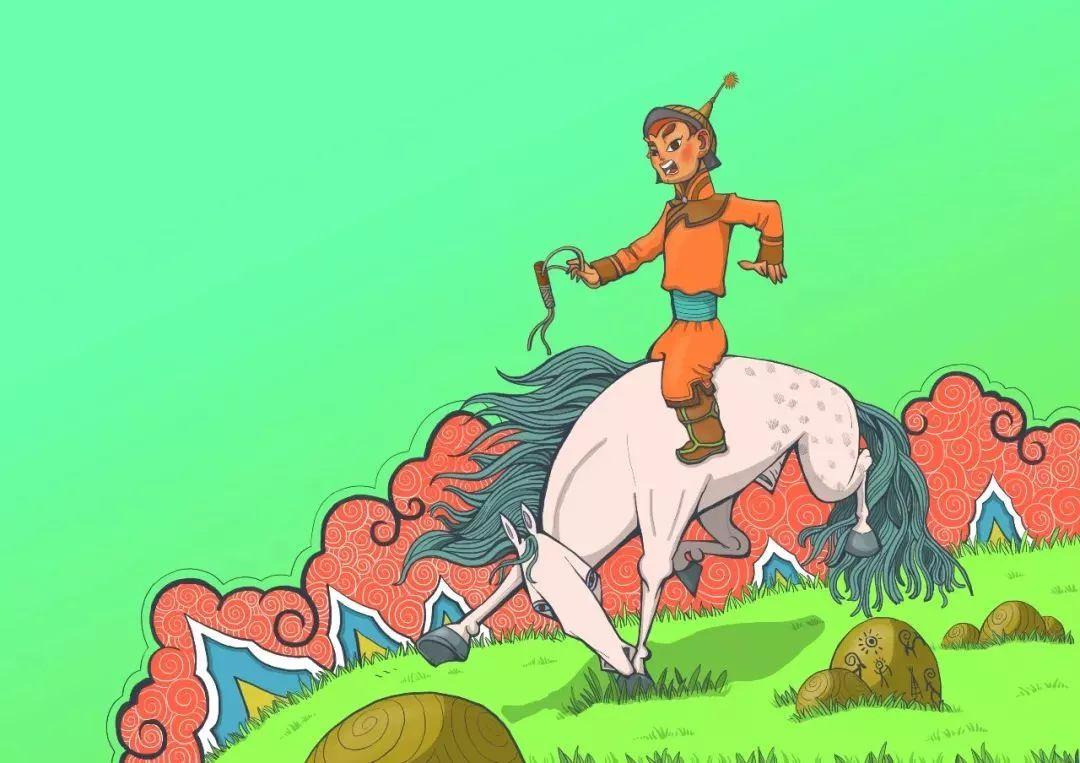 蒙古插画 第7张 蒙古插画 蒙古画廊