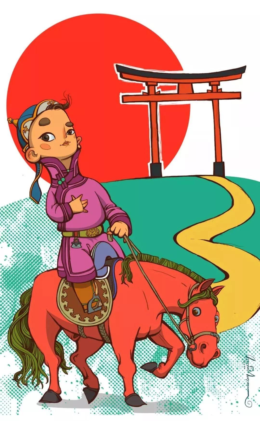蒙古插画 第16张 蒙古插画 蒙古画廊