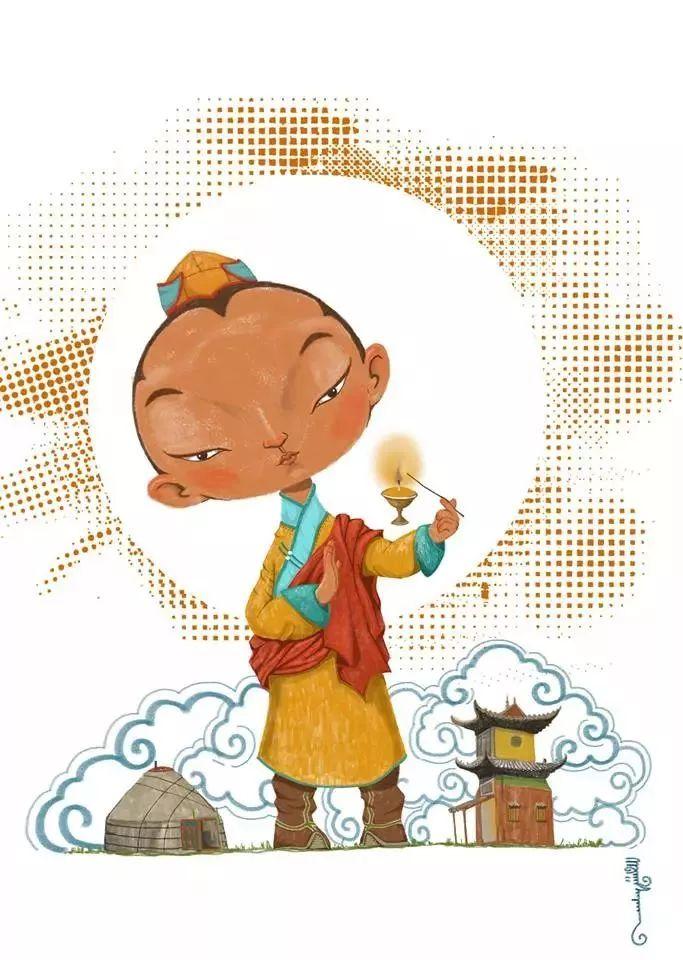蒙古插画 第15张 蒙古插画 蒙古画廊