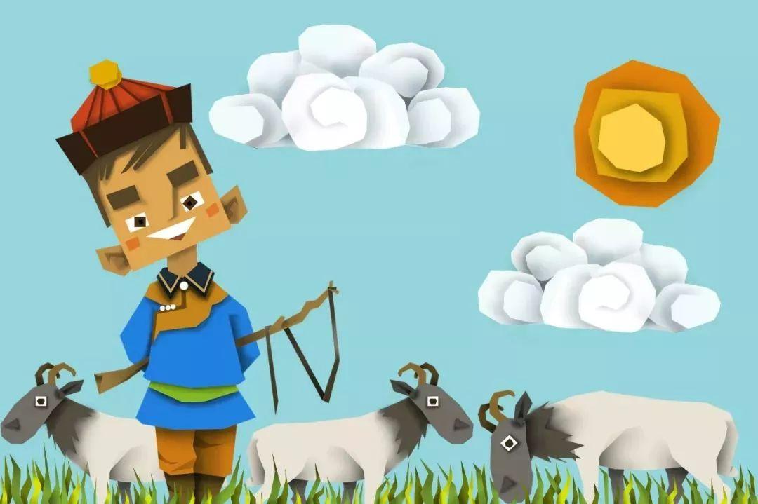 蒙古插画 第17张 蒙古插画 蒙古画廊