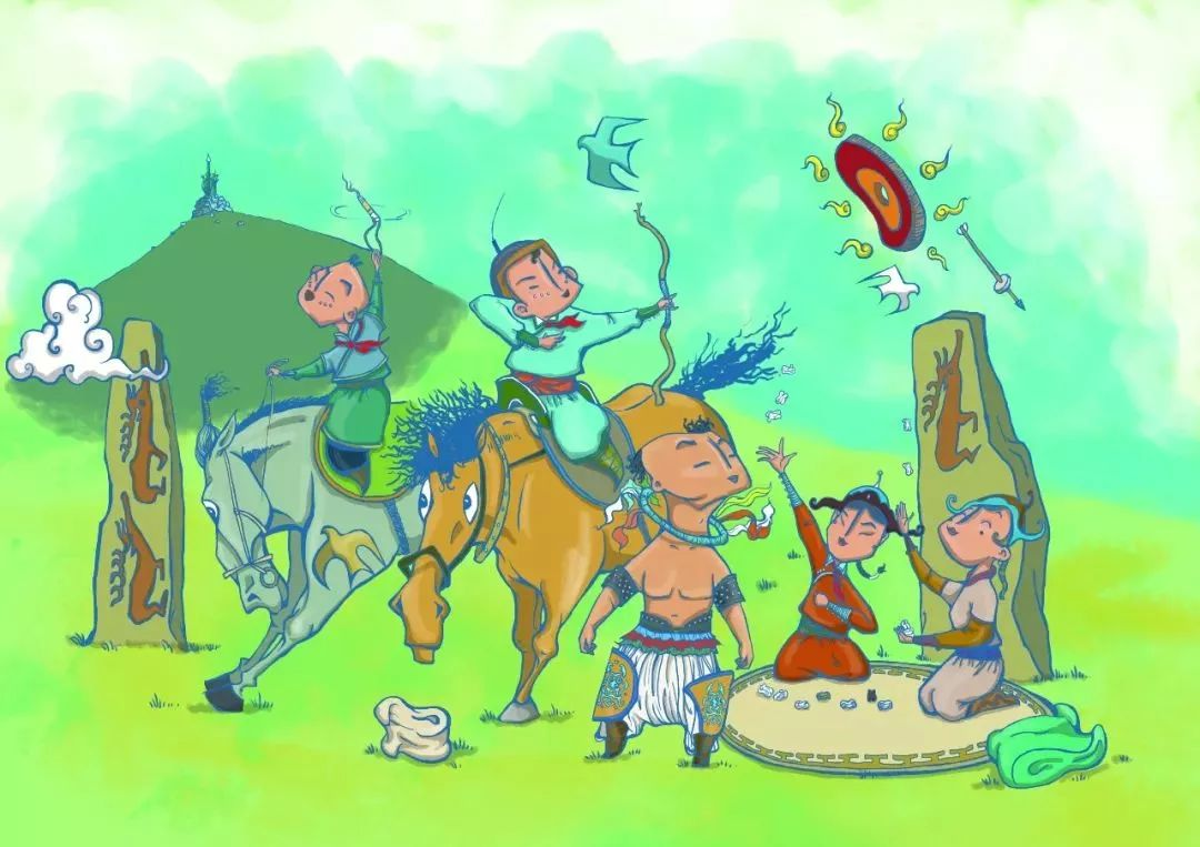 蒙古插画 第18张 蒙古插画 蒙古画廊