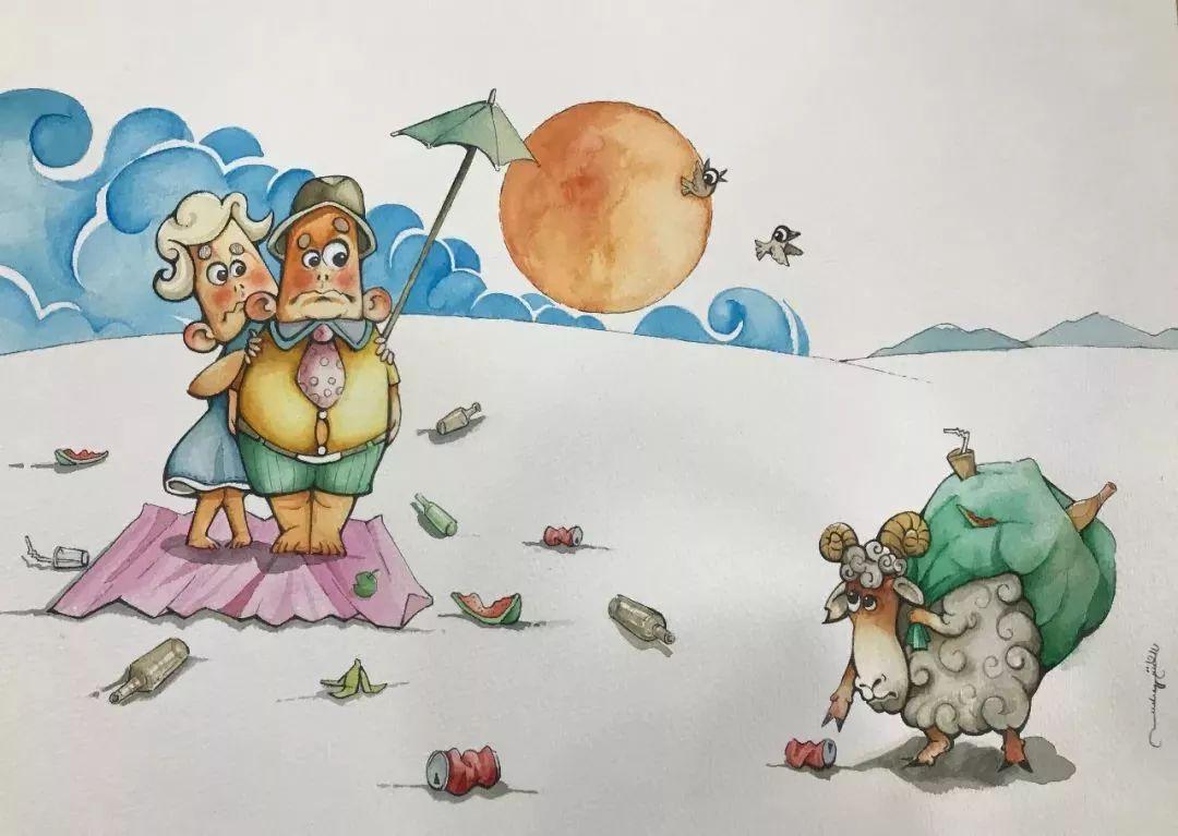 蒙古插画 第19张 蒙古插画 蒙古画廊