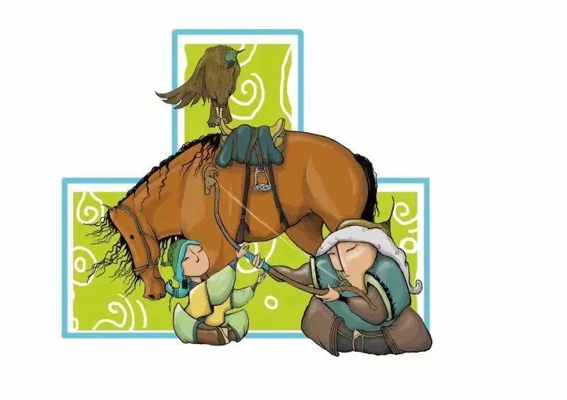 蒙古插画 第22张 蒙古插画 蒙古画廊