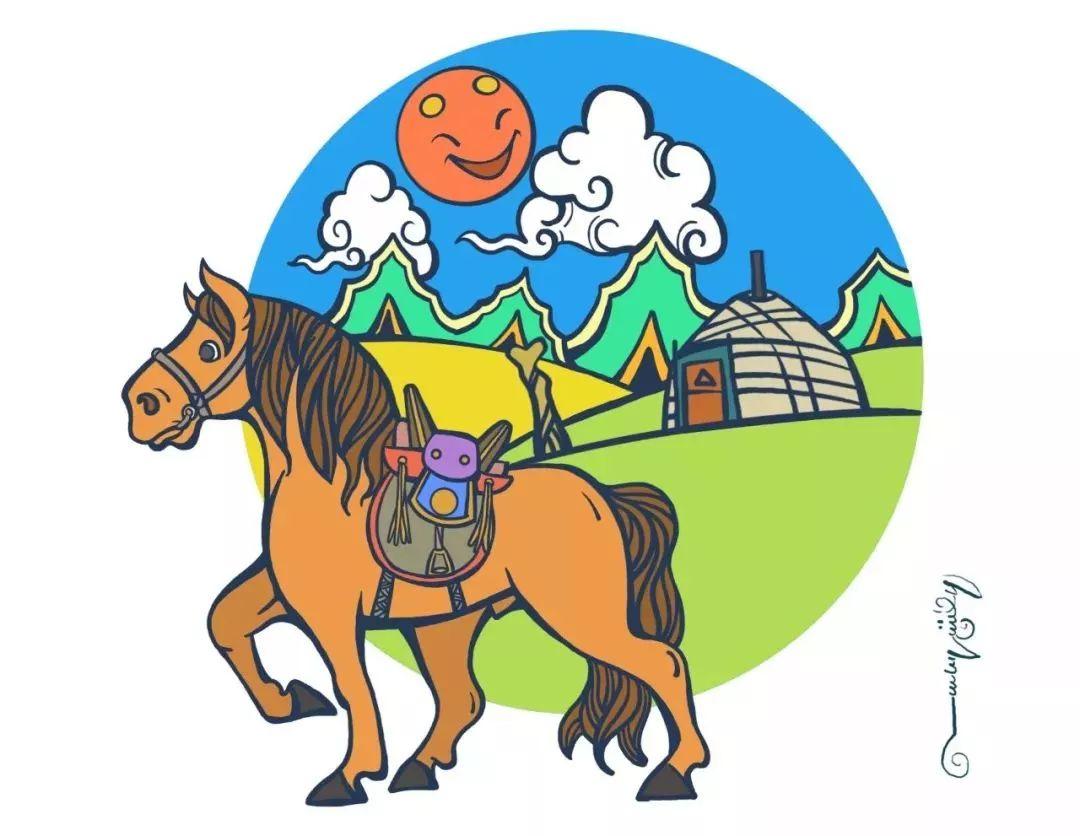 蒙古插画 第23张 蒙古插画 蒙古画廊
