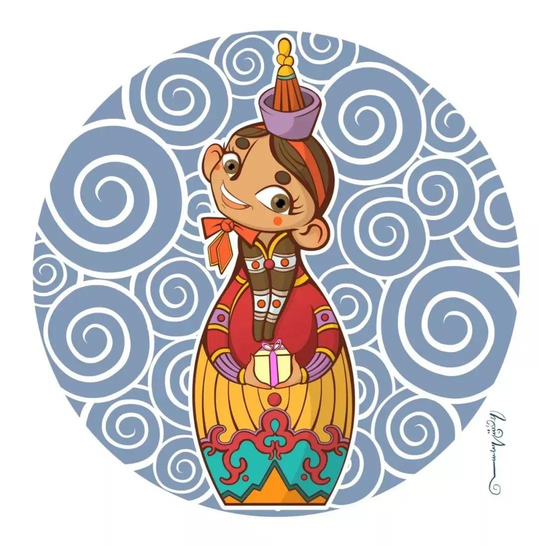 蒙古插画 第28张 蒙古插画 蒙古画廊