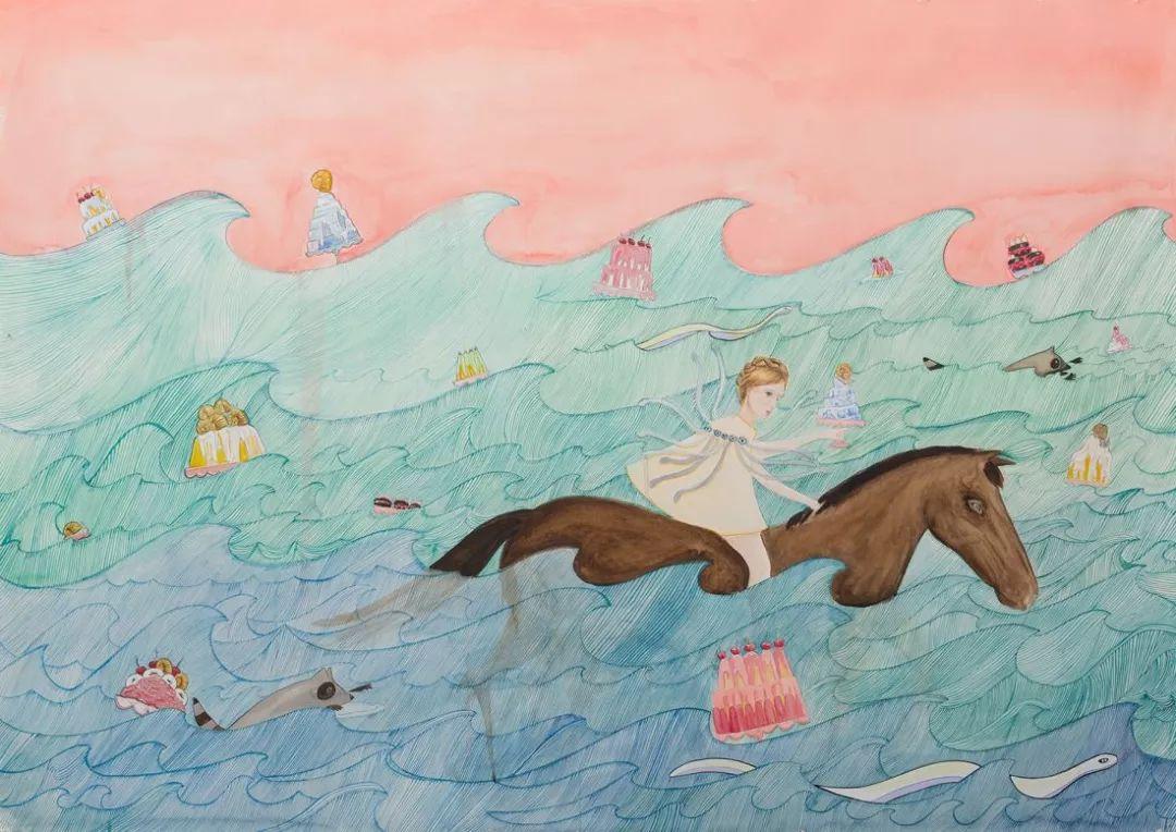 美国Dana Sherwood新的插画探讨了蒙古游牧部落 第4张 美国Dana Sherwood新的插画探讨了蒙古游牧部落 蒙古画廊