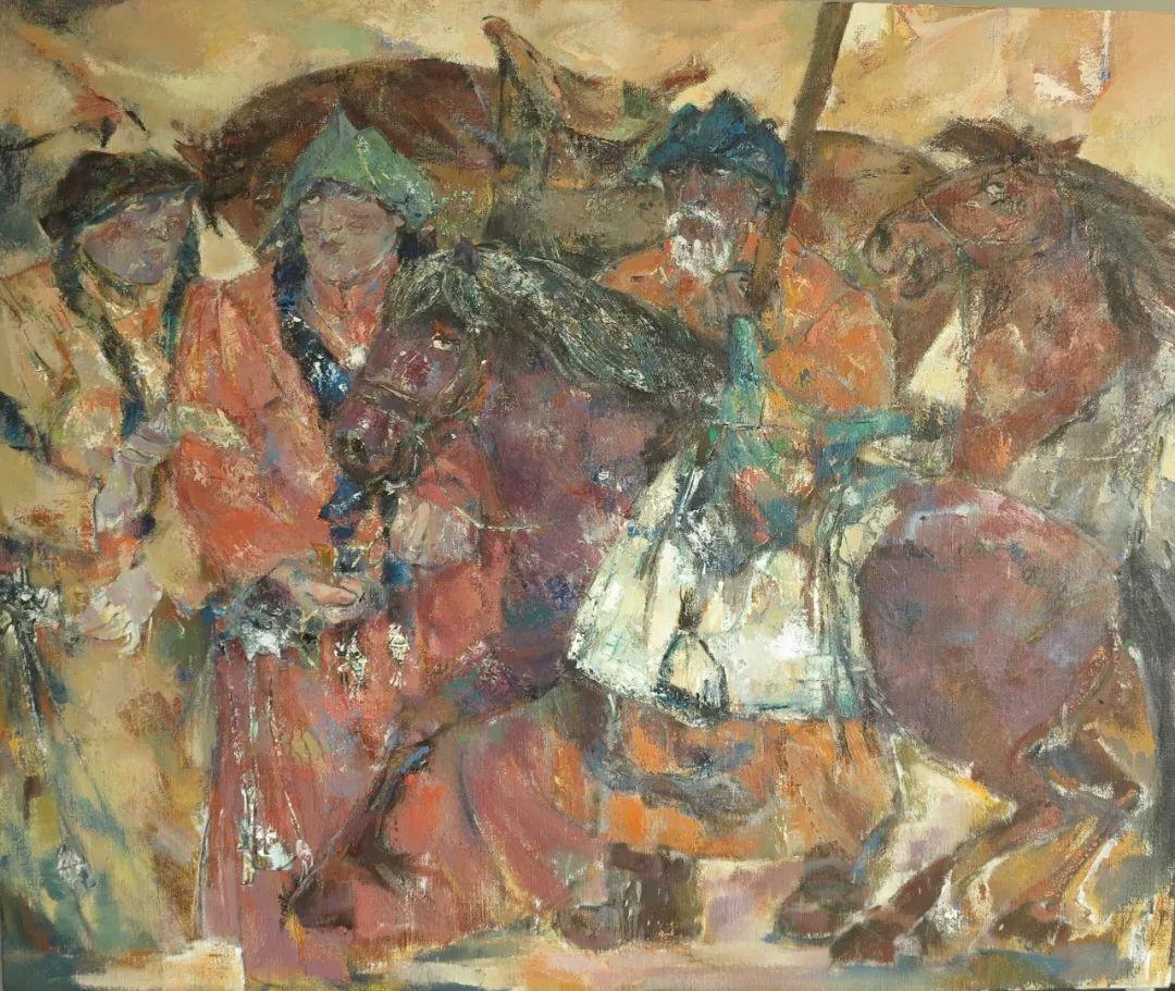 【蒙古图片】蒙古马 内蒙古当代美术作品微展 第4张