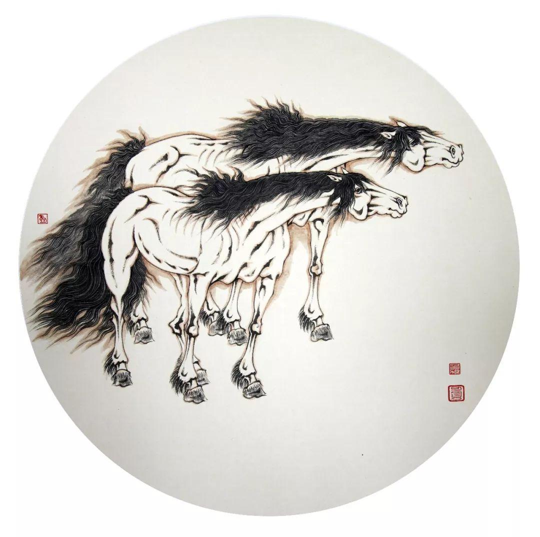 【蒙古图片】蒙古马 内蒙古当代美术作品微展 第16张