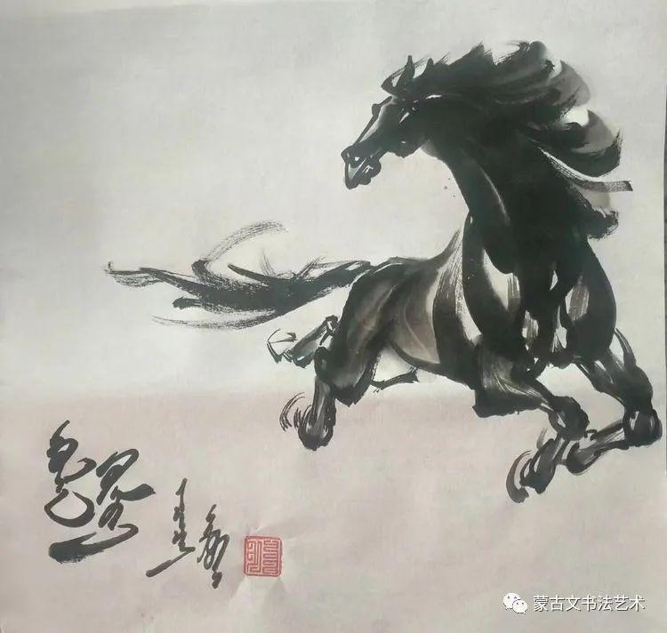 伟花蒙古文书法 第12张 伟花蒙古文书法 蒙古书法