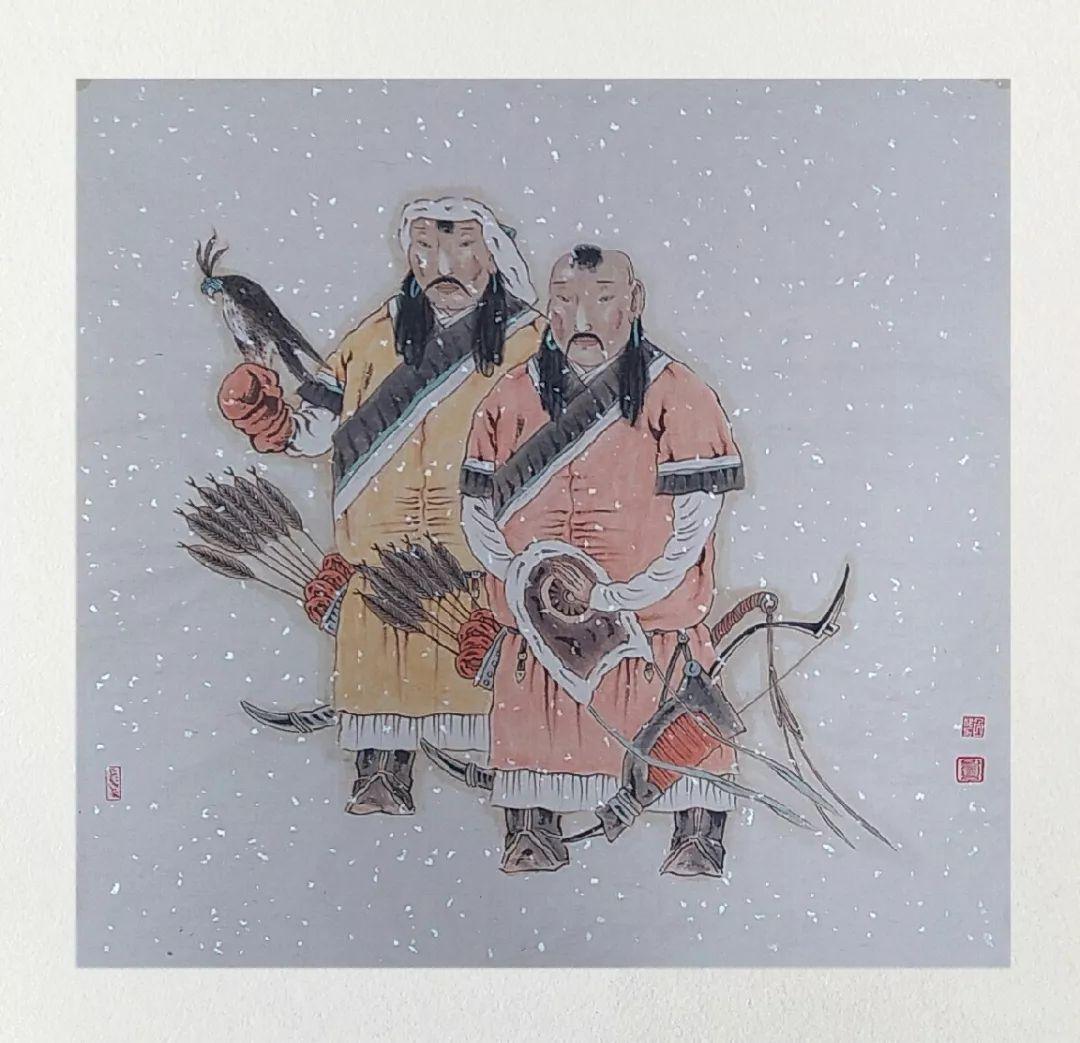 内蒙古当代美术家系列——白嘎力中国画作品选 第6张