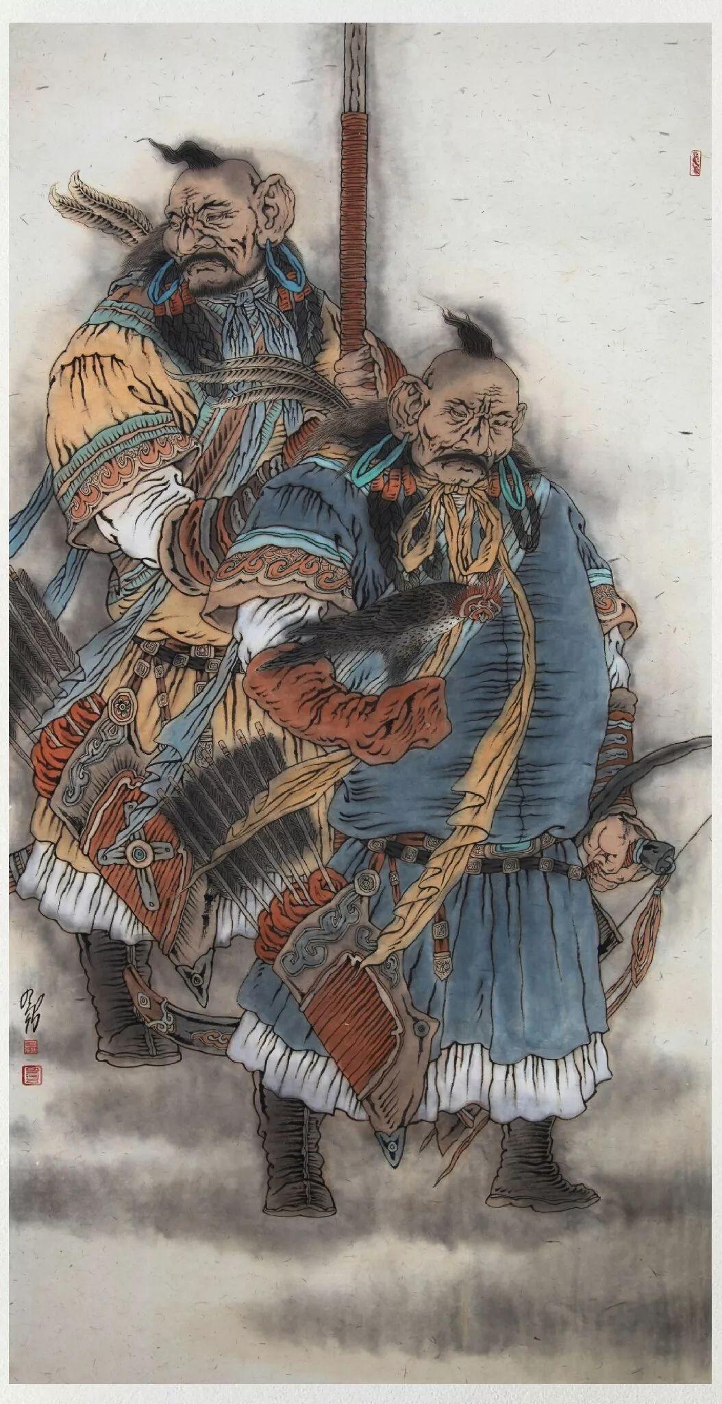 内蒙古当代美术家系列——白嘎力中国画作品选 第20张