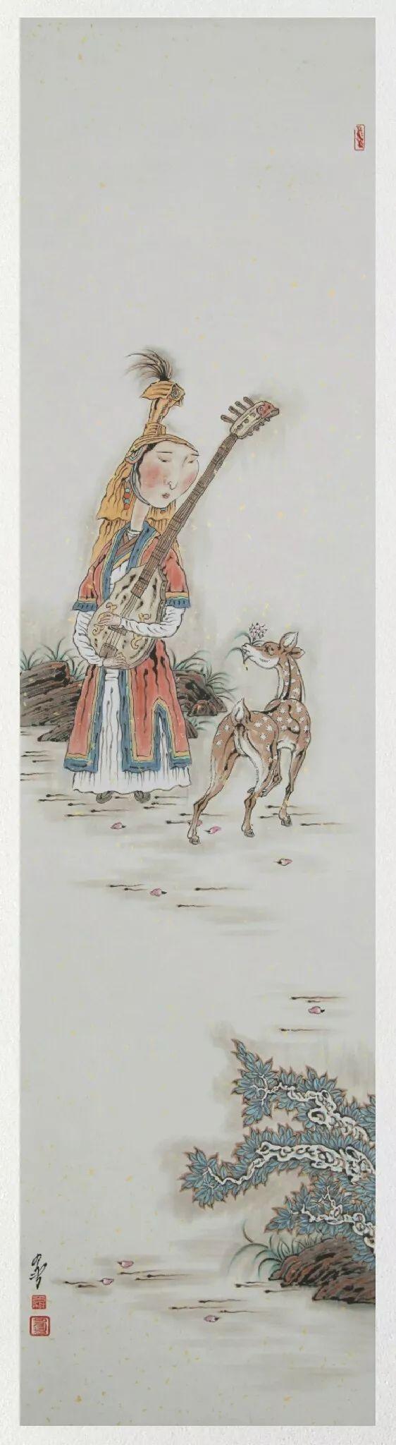 内蒙古当代美术家系列——白嘎力中国画作品选 第24张