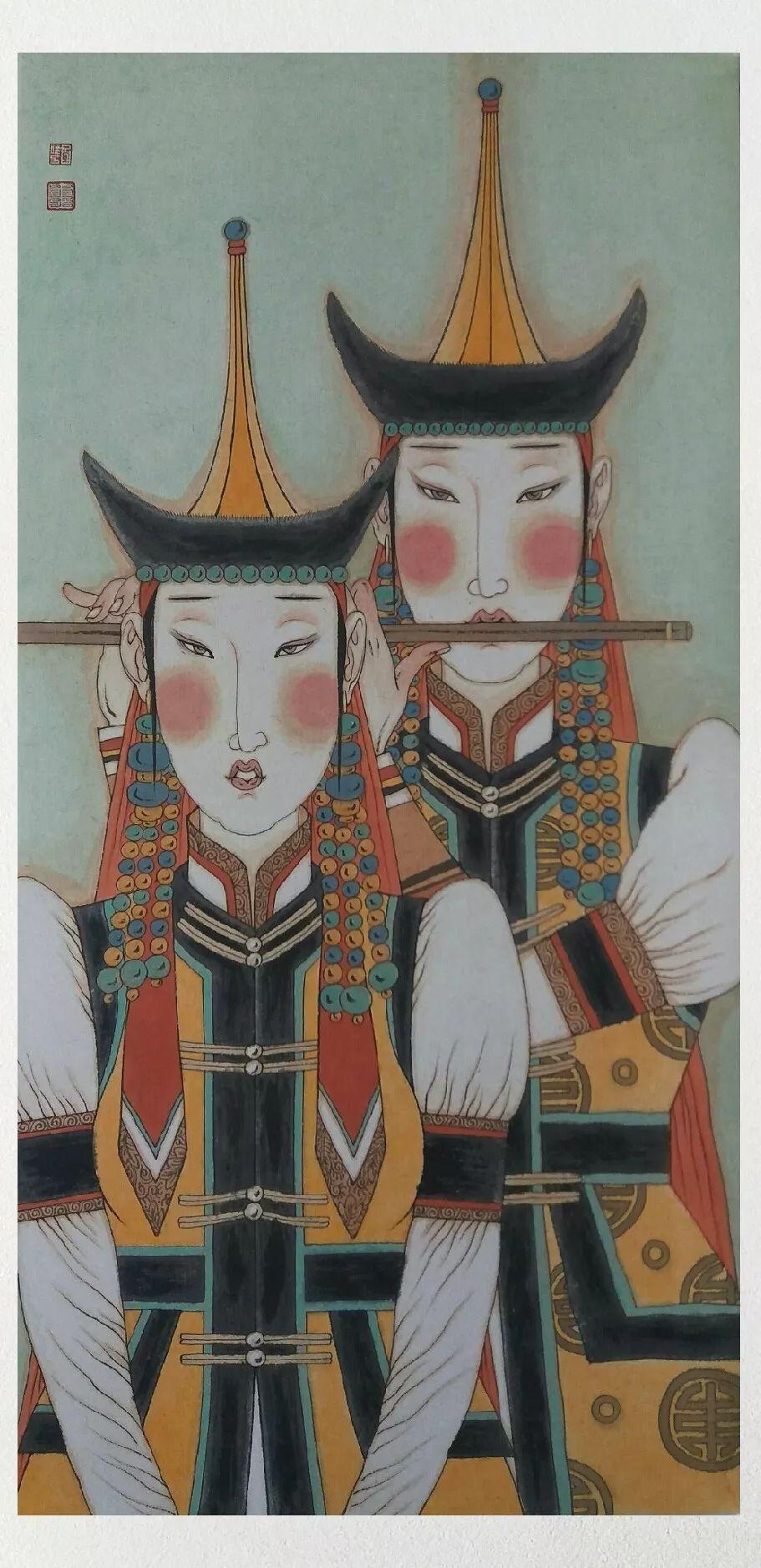 内蒙古当代美术家系列——白嘎力中国画作品选 第25张