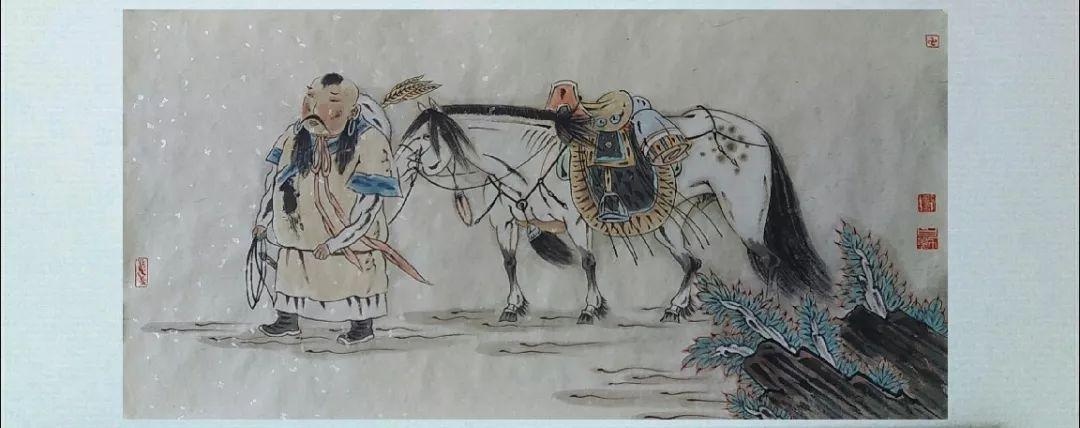 内蒙古当代美术家系列——白嘎力中国画作品选 第27张